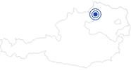 Badesee/Strand Waldbad Rappottenstein im Waldviertel: Position auf der Karte
