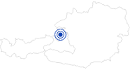 Badesee/Strand Waldbad Anif in Salzburg & Umgebungsorte: Position auf der Karte