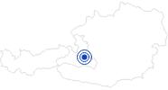 Badesee/Strand Daarmoossee in der Salzburger Sportwelt: Position auf der Karte