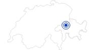 Badesee/Strand Caumasee in Flims Laax Falera: Position auf der Karte