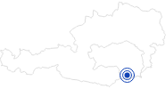 Swimming Lake / Beach Gleinstätten in Region Graz: Position on map
