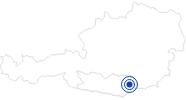 Badesee/Strand Freizeitanlage St. Andräer See im Lavanttal: Position auf der Karte