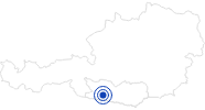 Badesee/Strand Weissensee in Kärnten in Nassfeld-Pressegger See - Lesachtal - Weissensee: Position auf der Karte