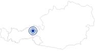 Badesee/Strand Salvenaland Hopfgarten in der Ferienregion Hohe Salve: Position auf der Karte