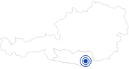 Badesee/Strand Klopeiner See am Klopeiner See - Südkärnten: Position auf der Karte