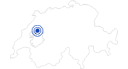 Badesee/Strand Murtensee (Lac de Morat) in Estavayer-le-Lac: Position auf der Karte