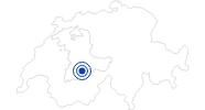 Badesee/Strand Blausee in Adelboden - Frutigen: Position auf der Karte