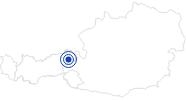 Badesee/Strand Badesee Kirchberg in Tirol in den Kitzbühler Alpen - Brixental: Position auf der Karte