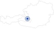 Swimming Lake / Beach Swimming Lake Flachauwinkl Salzburg's world of sport: Position on map