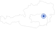 Badesee/Strand Wasser- und Naturerlebnisland Krieglacher See in der Hochsteiermark: Position auf der Karte