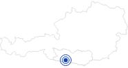 Badesee/Strand Pressegger See in Nassfeld-Pressegger See - Lesachtal - Weissensee: Position auf der Karte