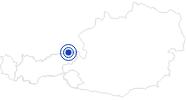 Badesee/Strand Walchsee im Kaiserwinkl: Position auf der Karte
