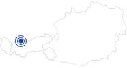 Badesee/Strand Naturbadesee Bichlbach in der Tiroler Zugspitz Arena: Position auf der Karte