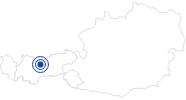 Badesee/Strand Wildsee in der Olympiaregion Seefeld: Position auf der Karte