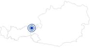 Badesee/Strand Filzalmsee bei Brixen im Thale in den Kitzbühler Alpen - Brixental: Position auf der Karte