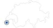 Badesee/Strand Genfer See - Lac Léman in der Lausanne Region: Position auf der Karte