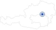Badesee/Strand Erlaufsee bei Mariazell in der Oststeiermark: Position auf der Karte