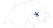 Badesee/Strand Laaxersee in Surselva: Position auf der Karte