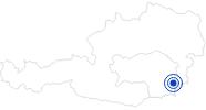 Badesee/Strand Seebad Riegersburg in der Oststeiermark: Position auf der Karte
