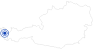 Badesee/Strand Seewaldsee in Fontanella im Biosphärenpark Großes Walsertal: Position auf der Karte