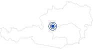 Swimming Lake / Beach Grundlsee in Ausseerland - Salzkammergut: Position on map