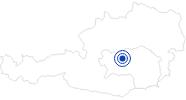 Badesee/Strand Gaishorner See in der Hochsteiermark: Position auf der Karte