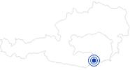 Badesee/Strand Stausee Soboth in Süd & West Steiermark: Position auf der Karte