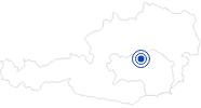 Badesee/Strand Leopoldsteiner See in der Hochsteiermark: Position auf der Karte