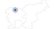 Badesee/Strand Bleder See in Zentralslowenien: Position auf der Karte