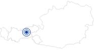 Badesee/Strand Badesee Weißlahn in Terfens in der Silberregion Karwendel: Position auf der Karte
