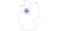 Badesee/Strand Blauer See in Garbsen in der Region Hannover: Position auf der Karte