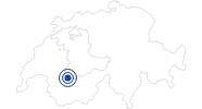 Badesee/Strand Lauenensee in Gstaad - Saanenland: Position auf der Karte