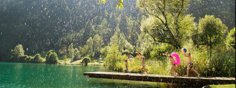 Der Afritzer See verspricht Badespaß für groß und klein