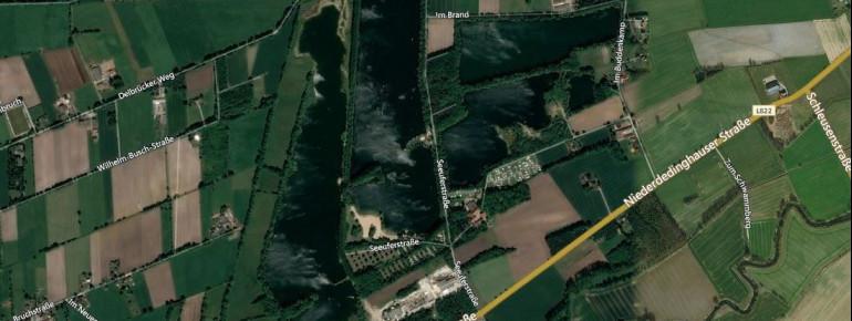 Der Alberssee ist Teil eines weitläufigen Naherholungsgebietes.