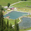 Der Naturbadesee in Bichlbach