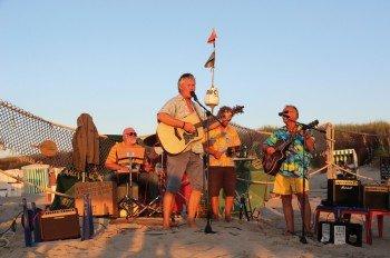 Musiker am Strand von Baltrum