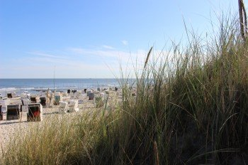 Blick von den Dünen auf den Strand