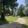 Liegeflächen am Freibadeplatz des Bannwaldsees
