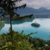 Die Bleder Insel ist die einzige Insel des Landes Slowenien.