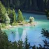 Türkisgrün schimmert der Caumasee