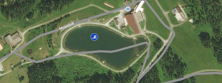 Der See aus der Luftperspektive