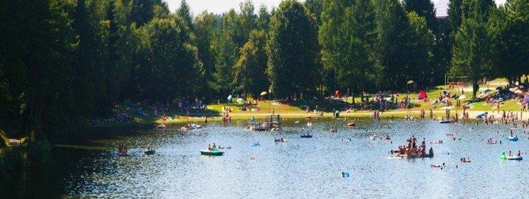 Der Eginger See ist einer der wenigen Naturbadeseen im Bayerischen Wald