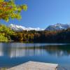 Auch im Herbst ist der Freibergsee einen Besuch wert.
