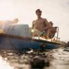 Auf dem Lac Léman kannst du Tret- oder Ruderboot fahren.