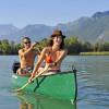 Auf der Kanutour über den Genfer See paddelst du vor der Bergkulisse der Dents-du-Midi.