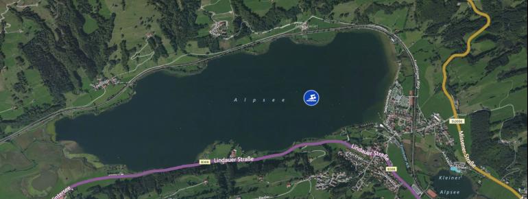 Lage des Alpsees