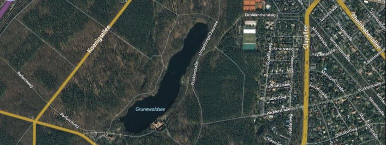 Satellitenbild Grunewaldsee