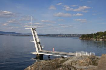 Der Sprungturm des Strandbades