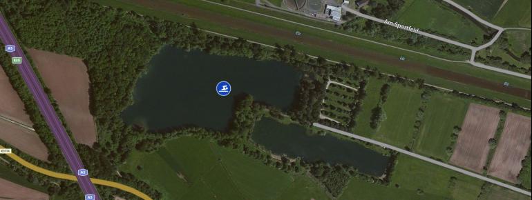 Der Köndringer Baggersee aus der Luftperspektive