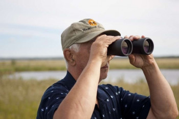 Der See ist ein beliebter Ort für Vogelbeobachter